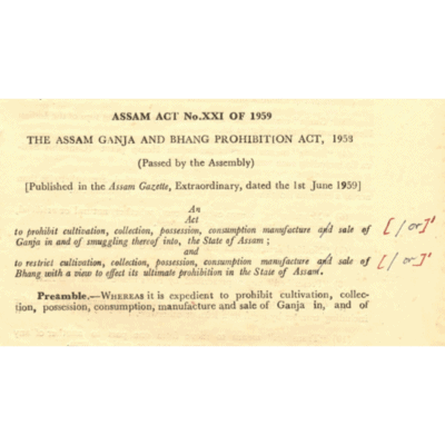 The Assam Ganja and Bhang Prohibition Act, 1958